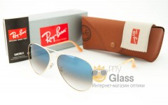 Солнцезащитные очки RB 3026 Aviator Large Metall
